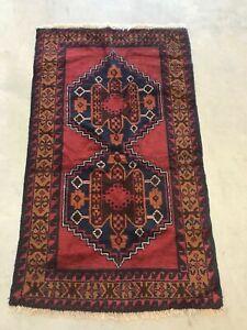Vintage Sarouk Mohajeran Handmade Wool Oriental Rug Carpet Taznakht Tribal 5'X3'