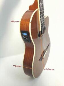 Rosales Electric-Classical Guitar,Thin-body,EQ,All Mahogany+Free Bag|MR-04CEQ N|