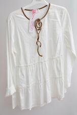 La Camicia Bluse, Gr.40,weiss,Baumwollemischung, UVP 139,-€(10a)