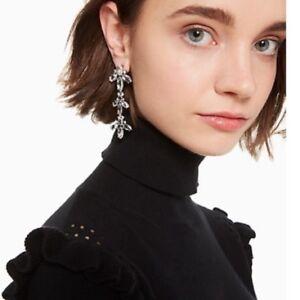 Kate Spade Ice Queen Chandelier Drop Linear Earrings  w Poich