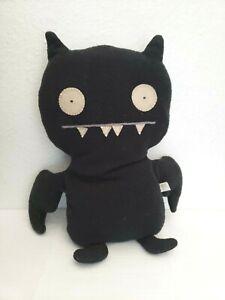 "2002 Ugly Doll Ice Bat Plush Stuffed Animal Black Two Eyes Wings 13"""