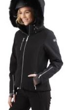 Rare Nils Women's Black White 12 Ski Snowboarding Jacket Insulated Gore Tex