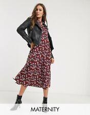 BNWT TOPSHOP Maternity Burgundy Trapeze Shirt Midi Dress size uk 16  RRP €50