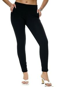 NEW WOMENS LADIES ELASTICATED STRETCH SKINNY SLIM SOFT OFFICE TROUSERS SIZE 8-16