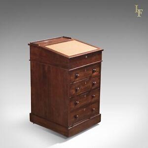 Antique Davenport, Victorian Swivel Top Desk