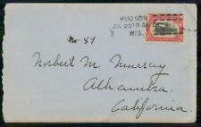 Mayfairstamps US Hudson to CA Train Cover wwm_26137