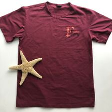 Gianfranco Ferre T-Shirt Mens Size Small Maroon Short Sleeve Graphics