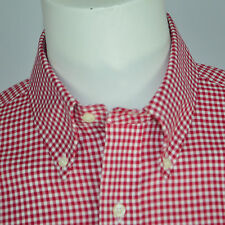 NWT RALPH LAUREN Slim Fit Non Iron Cotton Dress Shirt Sz 16.5 34/35 Red Check