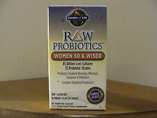 RAW Probiotics Women 50 & Wiser - 90 vegetarian Capsules - Garden of Life