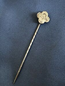 ANTIQUE SILVER TIE/CRAVAT PIN. ART DECO DESIGN 1930'S 1.21g 650mm COLLECTABLE