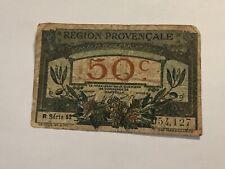 Billet France 50 Centimes Région Provence (19-23)