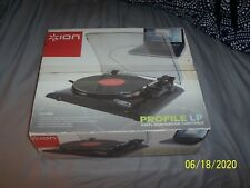 ION Profile LP Turntable USB Vinyl Record Player Mp3 Mac & PC Converter NIB