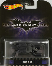 Rétro Film The Foncé Knight Rises Bat 1:64 Hot Wheels USA
