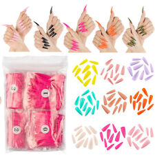 500Pcs/pack Long Stiletto Nail Tip Full Cover False Fake Acrylic Nail Art DIY