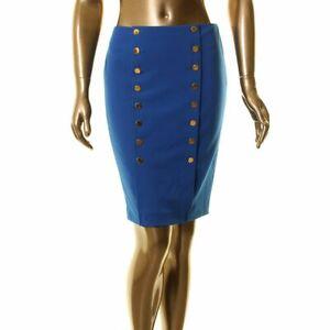 CALVIN KLEIN Women's Petite Button Front Straight, Pencil Skirt TEDO