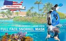 180°Full Face snorkeling mask, GoPro Mount with Latest Breathing System