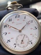 ANTIQUE ZENITH POCKET Watch 24 Dial 17J Swiss Size 16s Grand Prix 1900 1385831!!