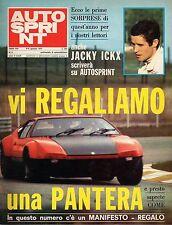 AUTOSPRINT ANNO 1973 NUMERO 2 CON INSERTO MANIFESTO BRANDS HATCH 1972