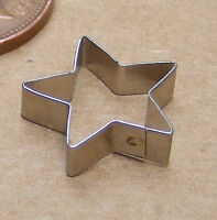 Star Shaped Metal Cake Clay Cutter Dolls House Miniature Sugarcraft Accessory