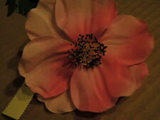 "Vintage Millinery Flower Pink Shaded Cosmos 4"" Showy for Bridal Hat or Hair Y133"