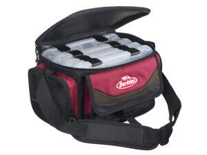 Berkley Gerätetasche mit 4 Köderboxen Rot/Schwarz, Bag System, Angeltasche