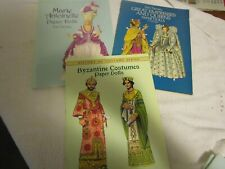 Tom Tierney Paper Dolls Marie Antoinette -Byantine Costumes-Great Empresses