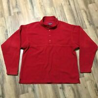 Vintage 90s Men's Patagonia USA Made Red Pullover 1/4 Snap Fleece Size M Red