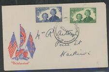 New Zealand, Fdc, #B24-25, W/Clean Red, White & Blue Cachet, 1943