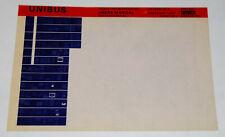 DEC Unibus Troubleshooting Users Manual, Microfiche