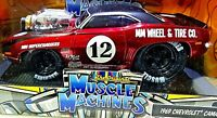 MUSCLE MACHINES 1969 CHEVROLET CAMARO RS #12 RED SUPERCHARGED 1:24 SCALE