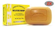 2 PACK- AFRICAN FORMULA SULFUR ACNE SOAP 3.5 oz ORGANIC BLENDED TREATMENT