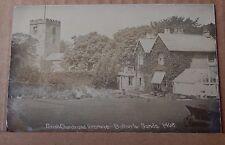 Postcard Bolton Le Sands Parish Church & Vicarage Real Photo posted 1909