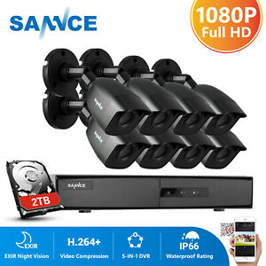 SANNCE 1080P HD CCTV Home System Security Camera 8CH DVR Home Outdoor Day Night