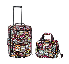 Luggage Set 2 Piece Trolley Travel Suitcase Rolling Skate wheels,Flight Tote Bag