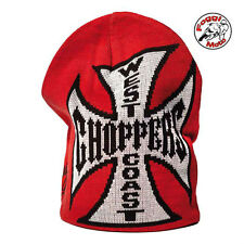 West Coast Choppers Jesse James Reversible Red/Black Beanie