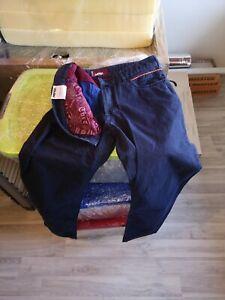 Meyer Anzughose Stretch vintage , Gr 52, blau und von innen rot *gebraucht