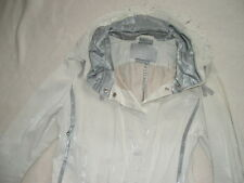 girbaud époque styliste Claire Campbell HIGH USE trench blanc-gris T38 etat NEUF