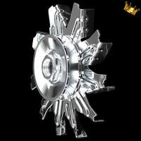 chrome 1 groove alternator pulley and fan for small and big block chevy SBC BBC