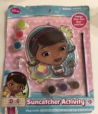 Disney Doc McStuffins The First Suncatcher Art and Craft Activity Set Paints NEW