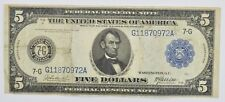 1914 $5 Federal Reserve of Richmond Large Size Note - Fr. 868 *3334