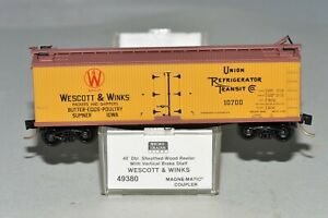 N Scale MICRO TRAINS 49380 WESCOTT & WINKS 10700 40' DOUBLE SHEATHED WOOD REEFER