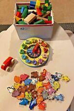 PlanToys, Melissa and Doug, Hape Wooden Blocks, Clock, Car, Animals EUC