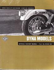 2002 Harley Dyna FXD Service Repair Shop Workshop Manual Book 99481-02