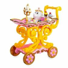"""DISNEY  BEAUTY AND THE BEAST """"BE OUR GUEST"""" SINGING TEA CART PLAY SET--NEW 11pcs"""