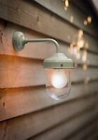 Stylish Garden Trading Outdoor Wall Light Modern Barn Lamp in Sage Green