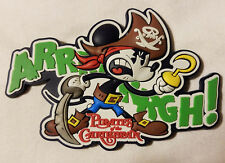 "Disney Parks Pirate Mickey Mouse Argh Magnet PVC 2"" Pirates Caribbean - NEW"