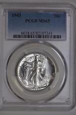 1943 P Walking Liberty Half Dollar MS65 PCGS Silver Bullion US Mint White Coin