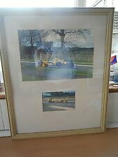 More details for original framed photo's of justin wilson the opening of silverstone village 2002