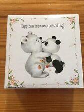Vintage Springbok Mini Square Puzzle Complete Happiness Hug Panda Bears 70+ PC