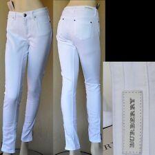 BURBERRY LONDON New sz 31 Designer Authentic Ankle Zip Womens White Pants Jeans